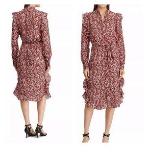 Lauren Ralph Lauren Vasha Midi Shirtdress Floral